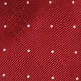 Maroon with White Polka Dots Fabric Bow Tie M045