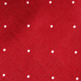 Maroon with White Polka Dots Necktie Fabric