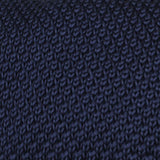 Matutine Navy Knitted Tie Fabric