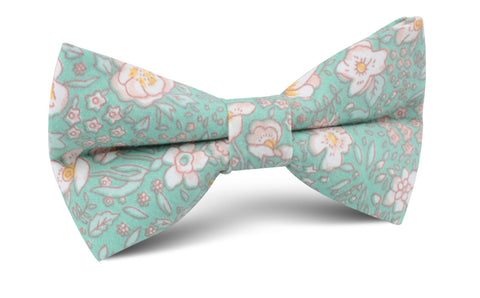Maui Mint Green Floral Bow Tie