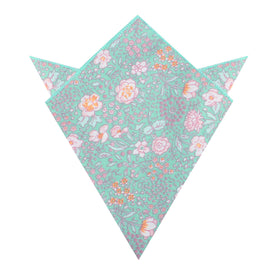 Maui Mint Green Floral Pocket Square
