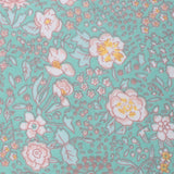 Maui Mint Green Floral Pocket Square Fabric