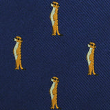 Meerkat Fabric Self Diamond Bowtie