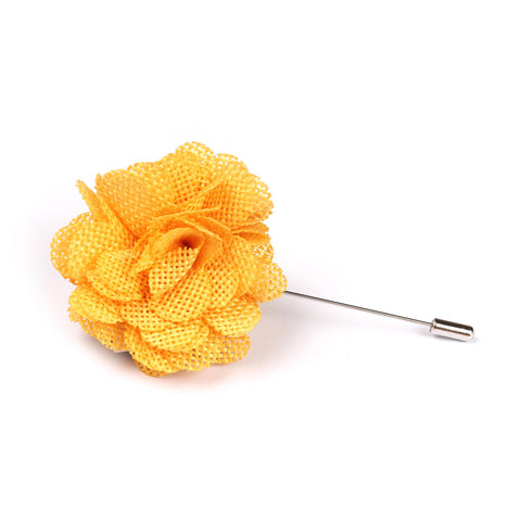 Melbourne Cup Yellow Lapel Flower