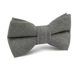 Mercury Charcoal Linen Kids Bow Tie