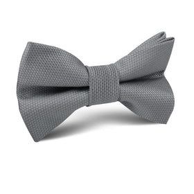 Mercury Grey Weave Kids Bow Tie