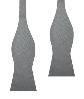 Mercury Grey Weave Self Bow Tie