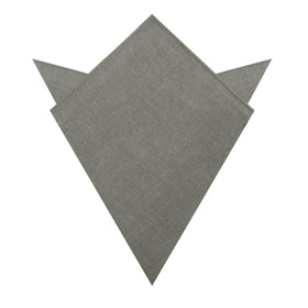 Mercury Charcoal Linen Pocket Square