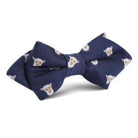 Merino Sheep Diamond Bow Tie