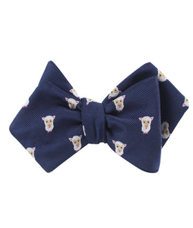 Merino Sheep Diamond Self Bow Tie
