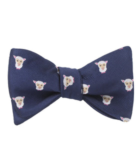 Merino Sheep Self Bow Tie