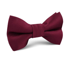 Merlot Burgundy Twill Kids Bow Tie