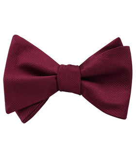 Merlot Burgundy Twill Self Bow Tie