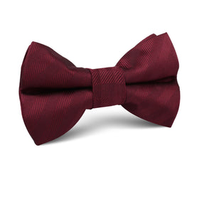 Merlot Wine Striped Kids Bow Tie