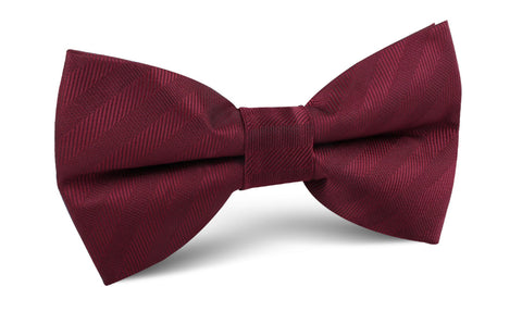 Merlot Wine Striped Bow Tie