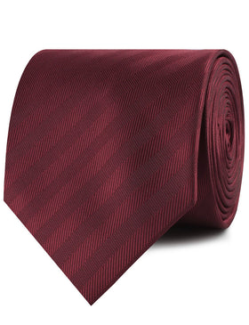 Merlot Wine Striped Necktie