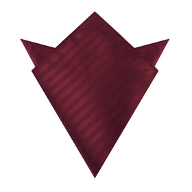 Merlot Wine Striped Pocket Square