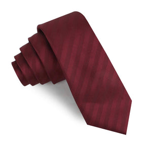 Merlot Wine Striped Skinny Tie