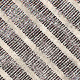 Mersin Brown Stripe Chalk Linen Pocket Square