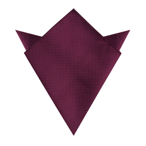 Metallic Maroon Oxford Weave Pocket Square