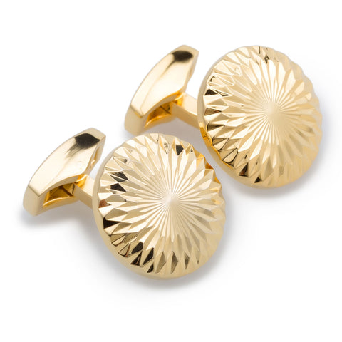 Michael Faraday Gold Cufflinks