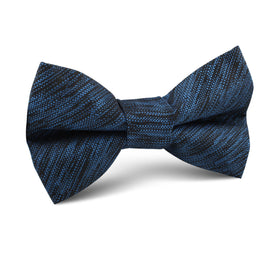 Midnight Blue-Black Chambray Kids Bow Tie