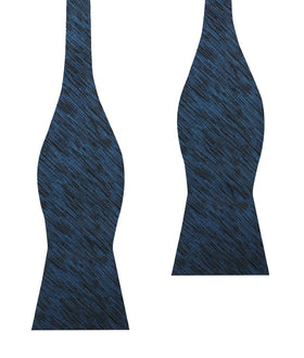 Midnight Blue-Black Chambray Self Bow Tie