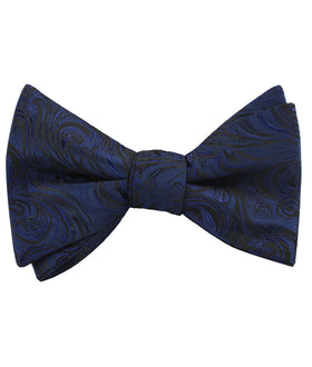 Midnight Blue Khamsin Self Bow Tie