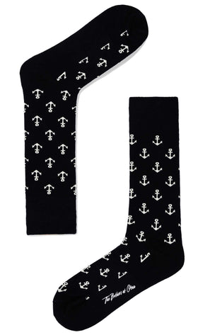 Midnight Anchor Socks