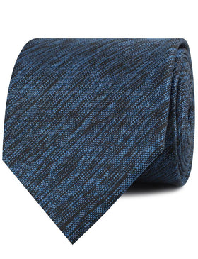 Midnight Blue-Black Chambray Necktie