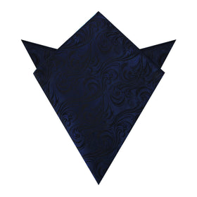 Midnight Blue Khamsin Pocket Square