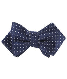 Midnight Blue Mini Pin Dots Diamond Self Bowtie