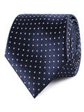 Midnight Blue Mini Pin Dots Necktie
