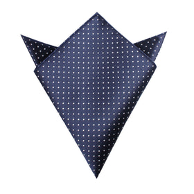 Midnight Blue Mini Pin Dots Pocket Square