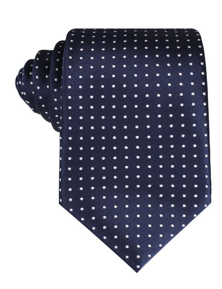 Midnight Blue Mini Pin Dots Tie
