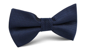 Midnight Blue Oxford Weave Bow Tie
