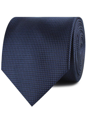 Midnight Blue Oxford Weave Necktie