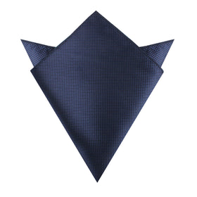 Midnight Blue Oxford Weave Pocket Square