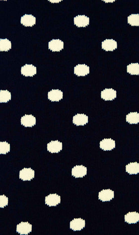 Midnight Blue on White Dot Socks