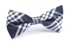 Midnight Blue with White Stripes Bow Tie