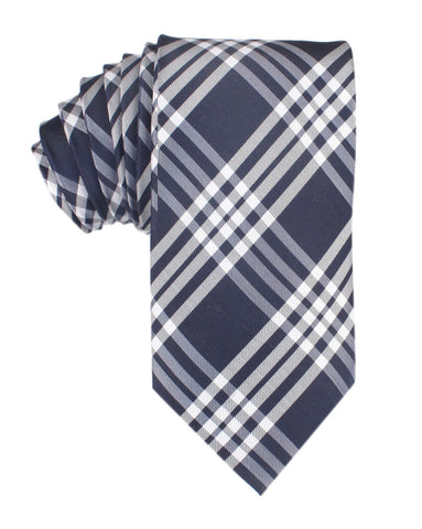 Midnight Blue with White Stripes Necktie