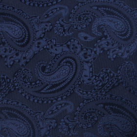 Midnight Navy Paisley Bow Tie