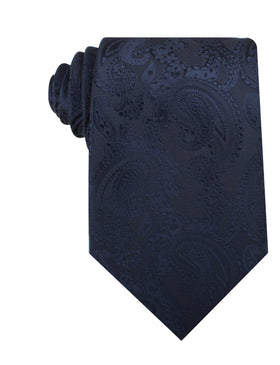 Midnight Navy Paisley Necktie