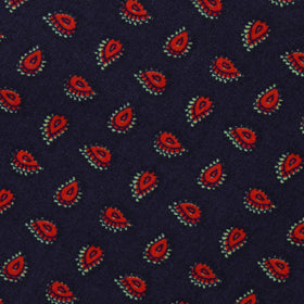 Milano Navy Blue Paisley Kids Bow Tie