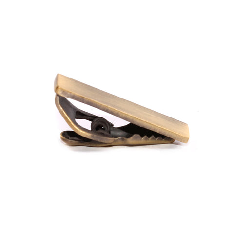 Mini Brushed Brass Skinny Tie Bar