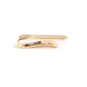 Mini Brushed Gold Round Clasp Skinny Tie Bar