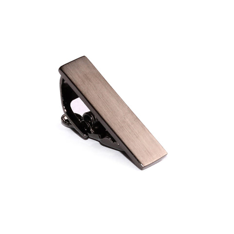 Mini Brushed Gun Skinny Tie Bar