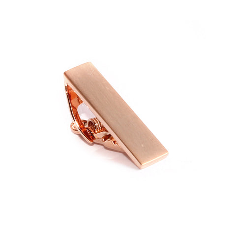 Mini Brushed Rose Gold Skinny Tie Bar