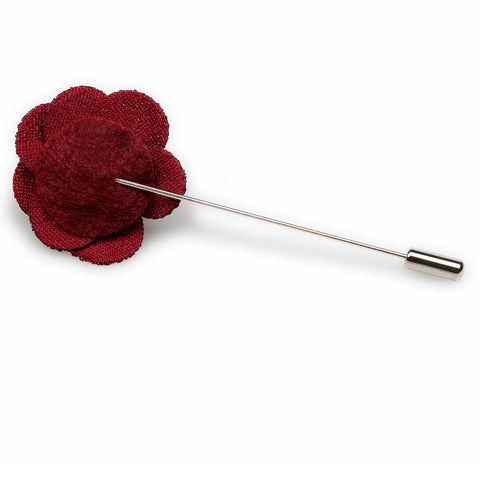 Mini Burgundy Lapel Flower