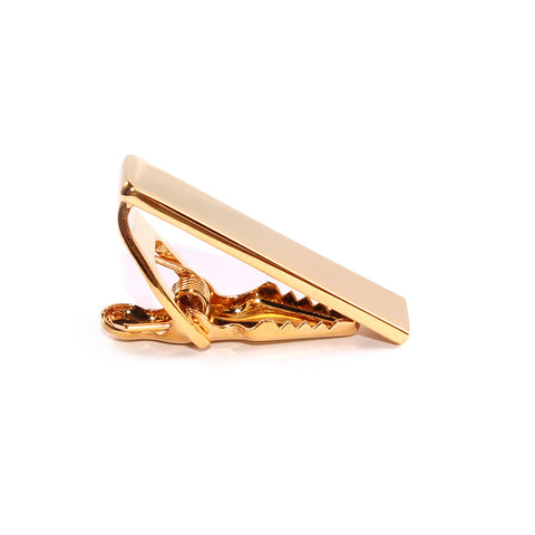 Mini Shining Gold Skinny Tie Bar